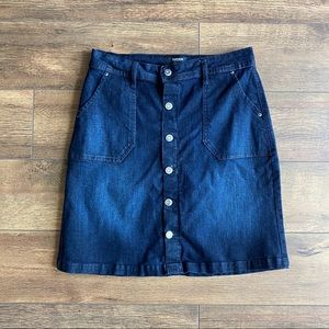 Kensie | Button Front Dask Wash Jean Skirt | Small